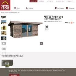 Abri de jardin bois Montresor 20m²