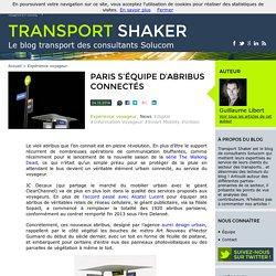 Paris s'équipe d' abribus connectés - Transport Shaker