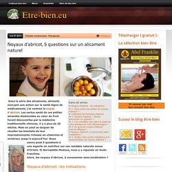 Noyaux d'abricot, 5 questions sur un alicament naturel - Etre bien