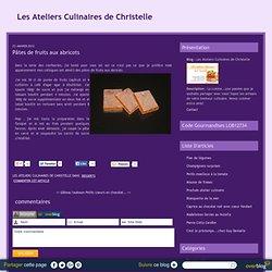 Pâtes de fruits aux abricots - Les Ateliers Culinaires de Christelle
