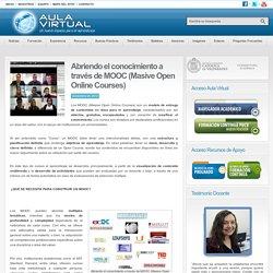 Abriendo el conocimiento a través de MOOC (Masive Open Online Courses)