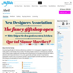 Abril - Webfont & Desktop font « MyFonts