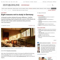 Study abroad : Eight reasons not to study in Germany