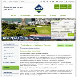 Study Abroad in Wellington: Courses - Fall 2016 and Spring 2017