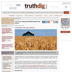 U.S. Faces 'Abrupt and Substantial' Crop Losses