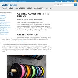 ABS Bed Adhesion Tips & Tricks