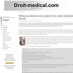Refus ou absence du salarié à la visite médicale du travail