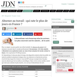 Absence au travail : qui rate le plus de jours en France ?