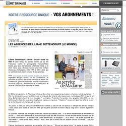 Les absences de Liliane Bettencourt (Le Monde)