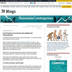 Les Français ne sont pas des adeptes de l'absentéisme