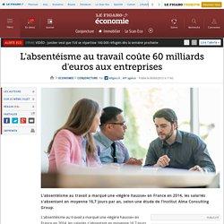 L'absentéisme au travail coûte 60 milliards d'euros aux entreprises