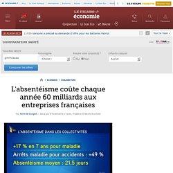 L'absentéisme coûte chaque année 60 milliards aux entreprises françaises