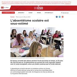 L'absentéisme scolaire est sous-estimé - rts.ch - Suisse