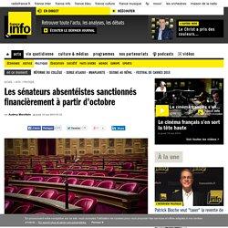 Les sénateurs absentéistes sanctionnés financièrement à partir d'octobre
