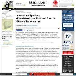 Lettre aux député-e-s absentionnistes: dites non à cette réforme des retraites