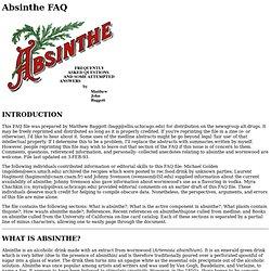 Absinthe FAQ