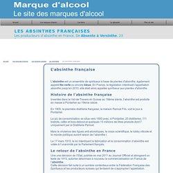Les marques d'absinthe française. De Absente à Versinthe.