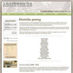 Absinthe poetry