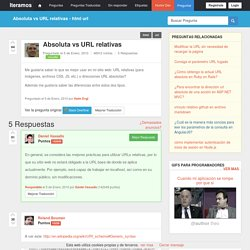 Absoluta vs URL relativas
