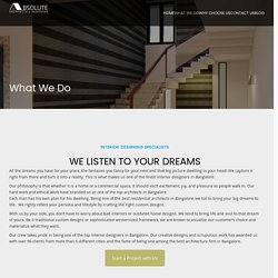 What We Do - Absolute Architects & Designers