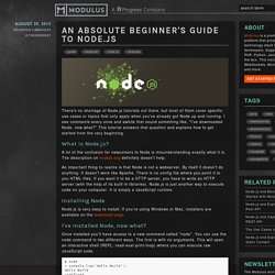 The Absolute Beginner's Guide to Node.js