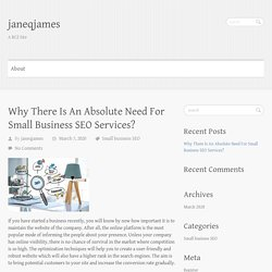 Know the Basic Need Of Small Business SEO Services