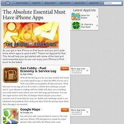 iPad Apps/Games : The Absolute Essential Must Have iPhone Apps
