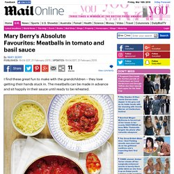 Mary Berry's Absolute Favourites: Meatballs in tomato and basil sauce