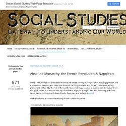 Absolute Monarchy, the French Revolution & Napoleon - Seisen Social Studies