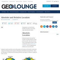 Absolute and Relative Location - Geolounge