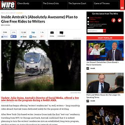 Inside Amtrak's (Absolutely Awesome) Plan to Give Free Rides to Writers