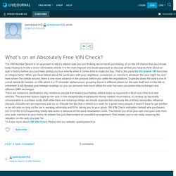What's on an Absolutely Free VIN Check?: speedysearch2