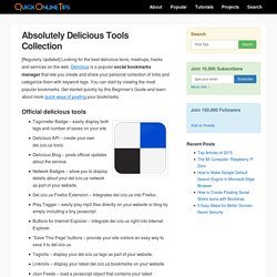 Quick Online Tips » Absolutely Del.icio.us - Complete Tools Collection
