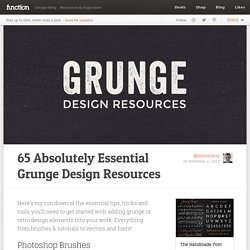 65 Absolutely Essential Grunge Design Resources