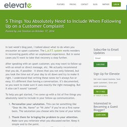 5 Things You Absolutely Need to Include When Following Up on a Customer Complaint
