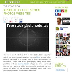 Absolutely free stock photos websites