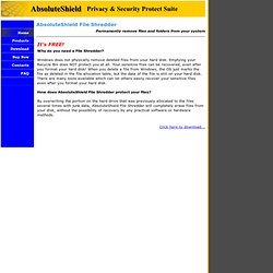 AbsoluteShield File Shredder