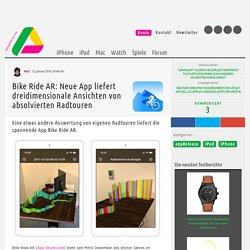 Bike Ride AR: Absolvierte Radtouren werden als 3D-Modell dargestellt