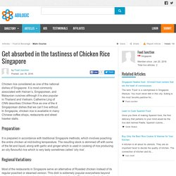 Traditional chicken rice restaurant Singapore