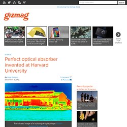 Perfect optical absorber invented at Harvard University - Images