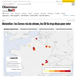 Abstention: les Corses rois du civisme, les Ch'tis trop déçus pour voter