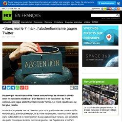 «Sans moi le 7 mai», l'abstentionnisme gagne Twitter