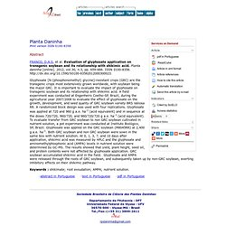 Planta daninha [online]. 2012, vol.30, n.3, pp. 659-666 Evaluation of glyphosate application on transgenic soybean and its relat