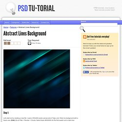 Photoshop Tutorial ›› Abstract Lines Background || psd.tu-torial.com