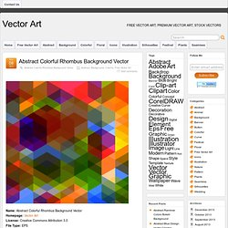 Abstract Colorful Rhombus Background Vector | Abstract | Vector Art