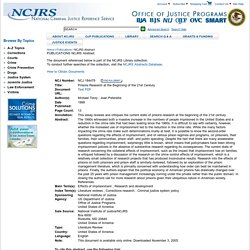 NCJRS Abstract - National Criminal Justice Reference Service