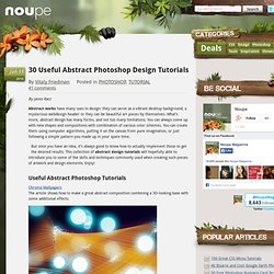 30 Useful Abstract Photoshop Design Tutorials - Noupe Design Blog