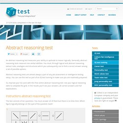 Abstract reasoning test - 123test.com