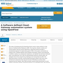 A Software defined Cloud-Gateway automation system using OpenFlow