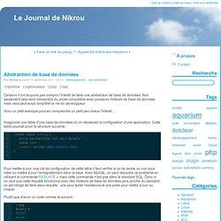 Abstraction de base de données - Le Journal de Nikrou